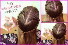 Cute DIY Valentine's Day Ideas , A Cute Braided Heart Hairstyle perfect for Valentine's Day by Braidsandstyles12   Tutorial : https://www.youtube.com/watch?v=4NMuXX58Jx0&list=UU8ouEGIBm1GNFabA_eoFbOQ  #Valentine's #DIYIdeas #DIYValentineidea #Valentine's Day Hairstyles