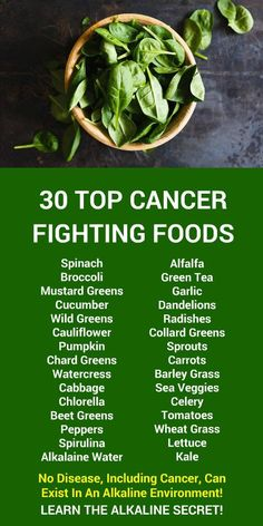 30 TOP CANCER FIGHTING FOODS. No disease, including cancer, can exist in an alkaline environment! Learn more about alkaline rich Kangen Water; the hydrogen rich, antioxidant loaded, ionized water that neutralizes free radicals that cause oxidative stress which can lead to disease such as cancer. Change your water, change your life. LEARN MORE #Cancer #Fighting #Foods