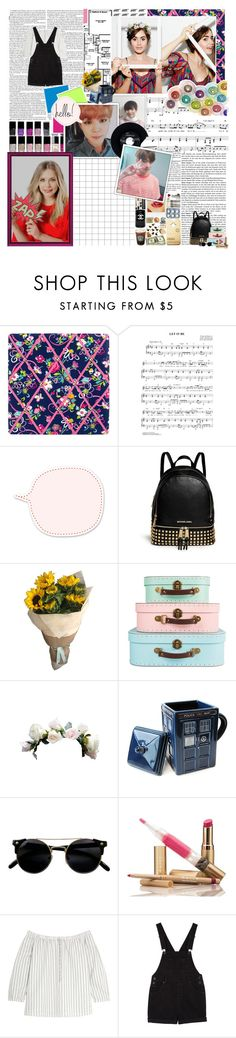 """""""We're makin' reasons to destroy our believing Cause we're addicted to bleeding hearts"""" by chrissykinz ❤ liked on Polyvore featuring Vera Bradley, Chanel, CHESTERFIELD, Olsen, MICHAEL Michael Kors, Madewell, Monki and kitchen"""