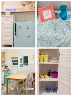 Montessori Toddler Kitchen (and Mini Fridge Makeover) - Joyful Abode.this is an all around fantastic idea--if the house we buy has the room! Montessori 12 Months, Montessori Room, Montessori Toddler, Toddler Preschool, Toddler Kitchen, Kid Kitchen, Kitchen Stuff, Family Kitchen, Kitchen Ideas