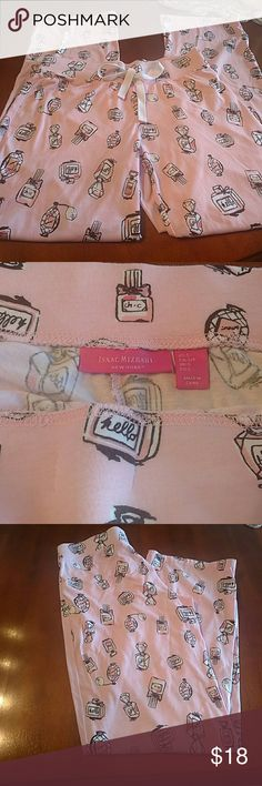 Isaac Mizrahi  Pajama Bottoms So soft , Size SMALL...worn maybe 4 times..if that.. great condition, pretty pink perfume bottles pajama pants... smoke free home Isaac Mizrahi Other