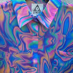 I think this is the only shirt Tyler Oakley wouldn't look good in. Trend Fashion, Look Fashion, Fashion Outfits, Net Fashion, Indie Fashion, Camisa Tribal, Pink Nature, Space Grunge, Only Shirt