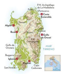 La isla de Cerdeña en seis etapas