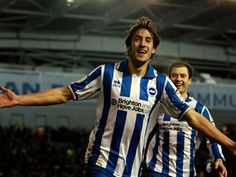 Will Buckley celebrates another vital goal for Brighton and Hove Albion.