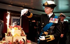 HRH The Princess Royal cuts a cake specially baked by celebrity pattissier Eric Lanlard for the #GrandEvent