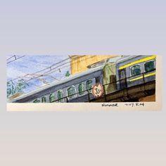 "Joy Liu on Instagram: ""🚞🛤 #asadclaw #summer  #watercolor #beijing #urbansketch #幸福大街"" Interesting Stuff, Beijing, Watercolor, Summer, Instagram, Pen And Wash, Watercolor Painting, Summer Time, Watercolour"