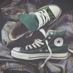 Imagine converse, green, and shoes