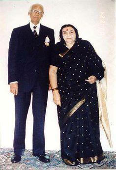 Shri Mataji with Her husband, Sir CP.