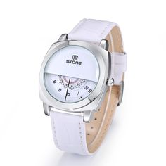 Casual SKONE Genuine Men & Women Brand Wristwatches Special design Military Leather Sports Watch