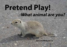 Pretend Play! A vital way for kids to figure out the world around them via play. So? What animal are you today?    #play #animals #pretend #kids