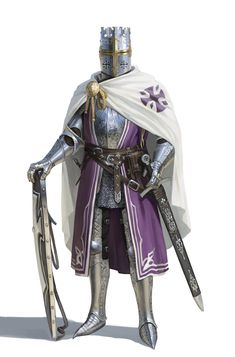 Teutonic Knight by RUM BLE - Your Daily Dose of Amazing beautiful Creativity and Digital Art - Fantasy Characters: Archers Assassins Astronauts Boners Knights Lovers Mythology Nobles Scholars Soldiers Warriors Witches Wizards Medieval Knight, Medieval Armor, Medieval Fantasy, Fantasy Character Design, Character Inspiration, Character Art, Armadura Medieval, Stormcast Eternals, Crusader Knight