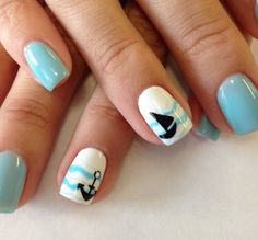 ongles en gel à motifs mignons- idées originales pour l'été