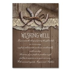 wishing well horseshoes rustic cards - Rustic Business Cards