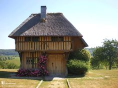 A Thatched Oak Frame Town Hall in Grimbouville, France