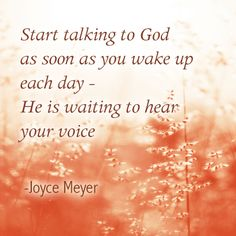 Hearing from God. Prayer.