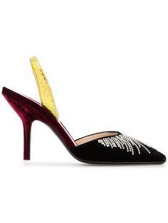 Handmade Women Velvet  Buckle Shoes MaryJane Attico Ankle Strap Pumps Point Toe