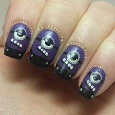 evil minions by nailstorming #nail #nails #nailart