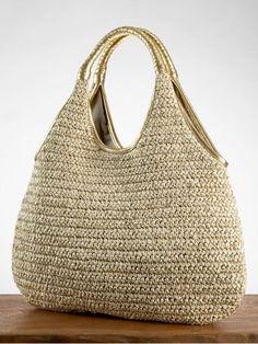 crochet raffia/straw bag