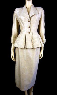 1950's Women's suit - peplum