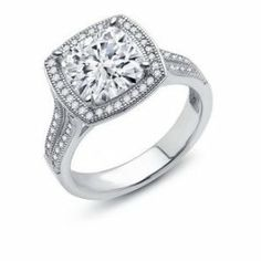 LaFonn sterling silver and cubic zirconia halo ring Call or email for information and availability ddjewelry@gmail.com  (425)827-7722