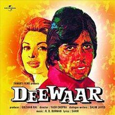 Deewaar (1974),   Amitabh Bachchan, Classic, Indian, Bollywood, Hindi, Movies, Posters, Hand Painted