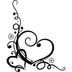 Decorative Love Heart Floral Wall Art Sticker Wall Decal Transfers ... - ClipArt Best - ClipArt Best