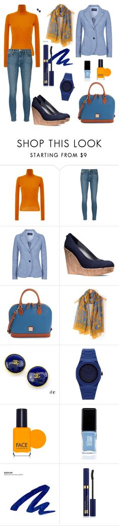 """#комплементарная схема #verysmartcasual"" by lady-sybill-vimes on Polyvore featuring мода, Carven, Frame Denim, Armani Jeans, Stuart Weitzman, Dooney & Bourke, Chanel, d1 Milano, FACE Stockholm и JINsoon"