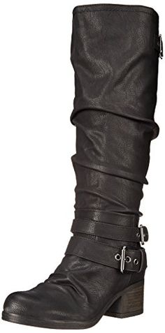 Carlos By Carlos Santana Women's Claudia Wide Calf Motorcycle Boot -- See  this awesome image