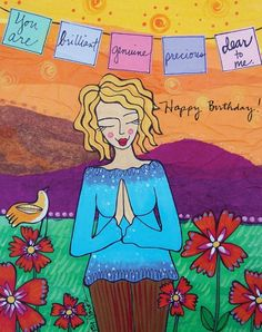 love me some lori portka! check out her prints! Print : You are Brilliant Happy Birthday Images, Happy Birthday Greetings, Birthday Wishes, Prayer Flags, Sweet Notes, Card Reading, Illustrations, Happy Thoughts, Birthday Quotes