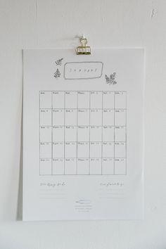 Wall calendar with i