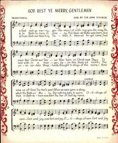 25+ Free Printable Vintage Christmas Sheet Music; Day 10                                                                                                                                                                                 More
