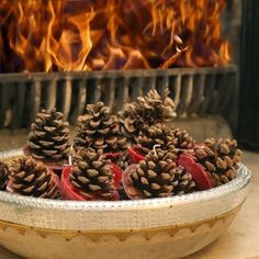 Ten Scented Pinecone Fire Lighters By Ella James - http://www.periodideas.com/ten-scented-pinecone-fire-lighters-ella-james