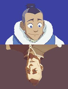 Sokka then and now--- Technically he's in the ground now...---