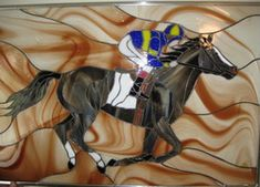 Stained Glass of Horses Equestrian Eqine Dogs Cats Animals Custom Stained Glass Artwork
