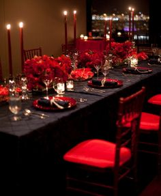 Graduation Dinner Party theme and decorations - Table Setting, Center Pieces, and Decor
