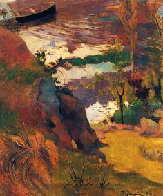 Paul Gauguin:  Fishermen and Bathers of Aven (1888)