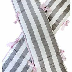 Amazon.com: My Baby Sam Chevron Crib Bumper, Pink/Gray: Baby......$60.00