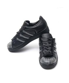 adidas superstar black - deals adidas superstar rose gold, glitter, holographic, black trainers for mens & womens, cheapest price with top quality assurance. Superstars Shoes, Adidas Superstar, Black Adidas, Shoe Sale, Trainers, Adidas Sneakers, Swarovski, Shopping, Women