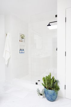 White, Minimal Bathroom Renovation