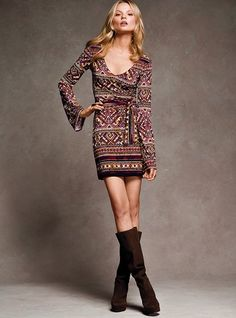 want it .. already have the rights boots for it!   Bell-sleeve Dress - Victoria's Secret