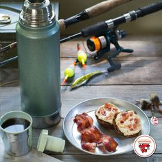 Before spending a peaceful day on the lake, spend a mindful moment with some bacon and cheese. Ingredients: The Laughing Cow Creamy Spicy Pepper Jack, bagel and bacon.
