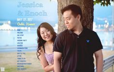 Jessica & Enoch play hide and seek to find each other's love. They made their cute wedding website on @weddingwoo