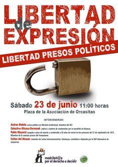 Madrid 23-J: Por la Libertad de Expresión. ¡Libertad Pres@s Polític@s! - LoQueSomos