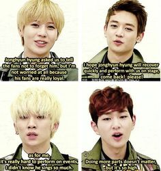 Teaming an Minho are all supportive and loving then key and onew are complaining :/