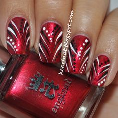 Image via Red nail art designs examples Image via Red nail art and beautiful patterns Image via Christmas style red nails design Image via Zebra and red nail art designs Fingernail Designs, Red Nail Designs, Elegant Nail Designs, Pedicure Designs, Christmas Nail Designs, Christmas Nail Art, Xmas Nails, Red Nails, Pastel Nails