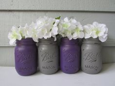 Painted and Distressed Ball Mason Jars Dark by Theretroredhead2, $28.00