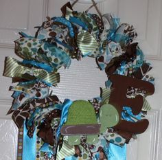 Personalized Baby Boy Nursery/Hospital Door Welcome Wreath