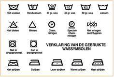 Overzicht wassymbolen