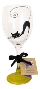hand painted cat wine glasses - Google Search
