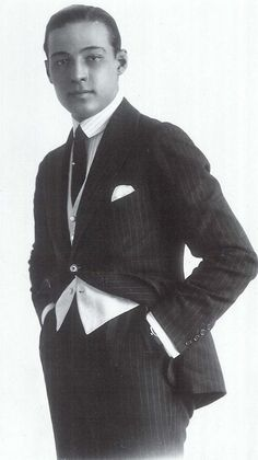 """Rudolph Valentino.(May 6, 1895 – August 23, 1926) was an Italian actor, known simply as """"Valentino"""" Died age 31 - peritonitis."""